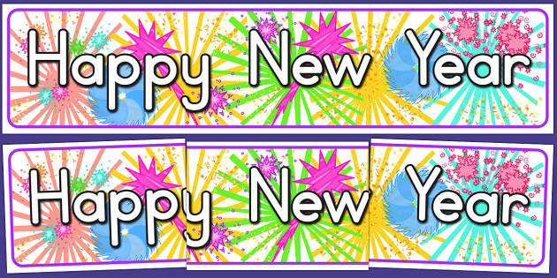Happy New Year Display Banner - australia, new year, display