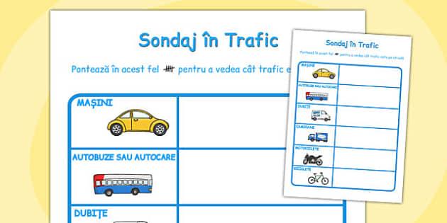 Sondaj in Trafic - predare integrata, matematica , Romanian