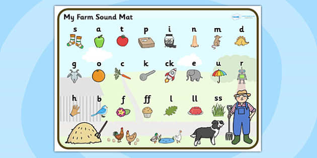 Farm Themed Phase 2 Sound Mat - farm, phase two, sound mat, mat