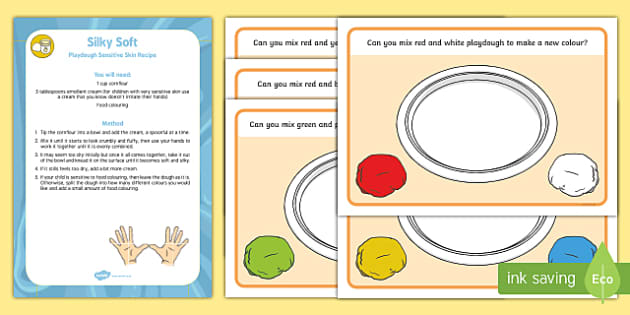 Colour Mixing Playdough Recipe and Mat Pack