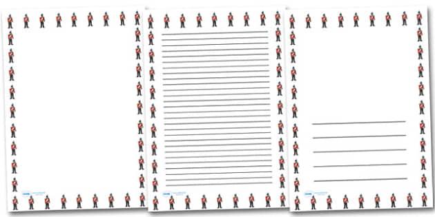 Victorian Soldier Portrait Page Borders- Portrait Page Borders - Page border, border, writing template, writing aid, writing frame, a4 border, template, templates, landscape