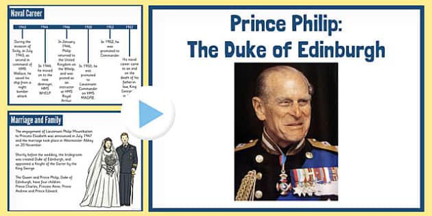 Prince Philip the Duke of Edinburgh PowerPoint - duke, edinburgh