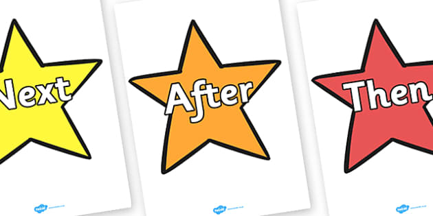 Sentence Starters on Stars Uppercase - sentence, starters, stars