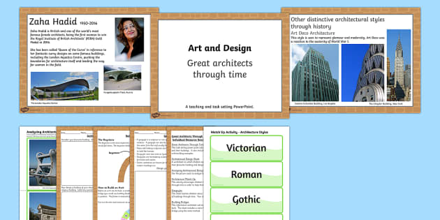 KS2 Art Great Architects Through Time Lesson Teaching Pack - art
