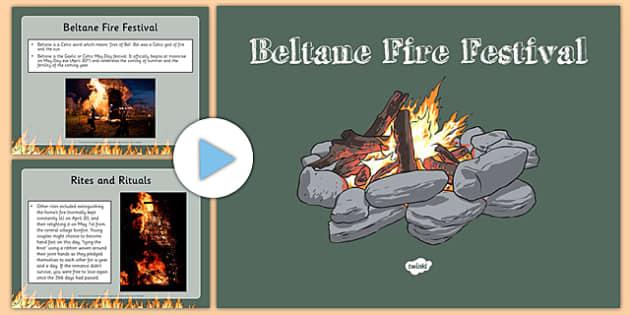 Beltane PowerPoint PowerPoint -CfE, Social Studies, History, Festivals, Beltane