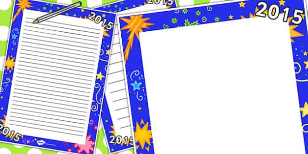 2015 Page Border - 2015, page, border, page border, new year