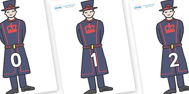 Numbers 0-100 on Beefeaters - 0-100, foundation stage numeracy, Number recognition, Number flashcards, counting, number frieze, Display numbers, number posters