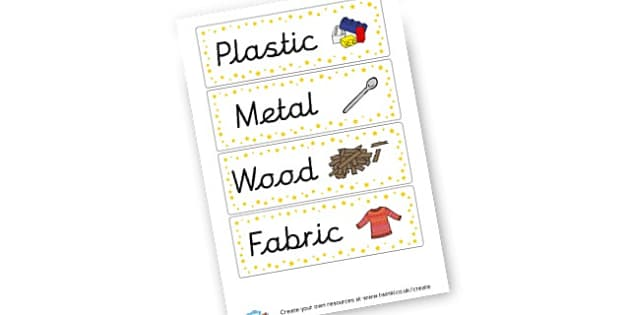 Materials labels - Classroom Signs and Labels, Materials, Stones, Primary Resources