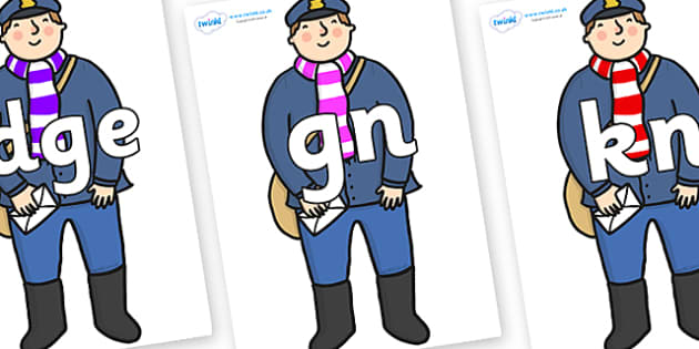 Silent Letters on Jolly Christmas Postman to Support Teaching on The Jolly Christmas Postman - Silent Letters, silent letter, letter blend, consonant, consonants, digraph, trigraph, A-Z letters, literacy, alphabet, letters, alternative sounds