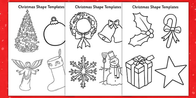 Christmas Shape Templates - EYFS, Early Years, Christmas, decorations, scissors, craft