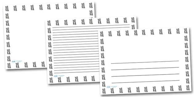 Kitten Landscape Page Borders- Landscape Page Borders - Page border, border, writing template, writing aid, writing frame, a4 border, template, templates, landscape