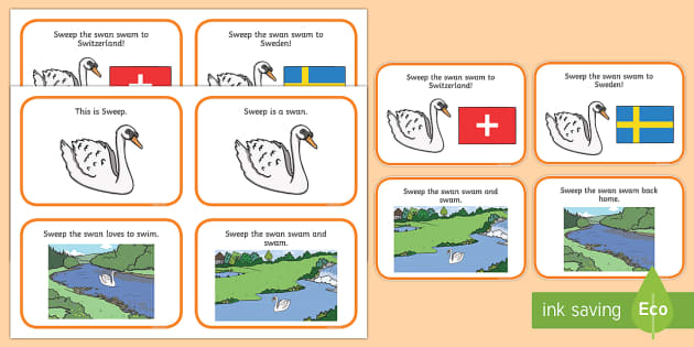 Initial sw Word Story Cards - Cluster reduction, phonology, articulation, dyspraxia, sentence level, speech sounds
