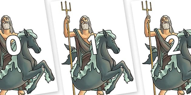 Numbers 0-100 on Poseidon - 0-100, foundation stage numeracy, Number recognition, Number flashcards, counting, number frieze, Display numbers, number posters
