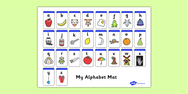 A-Z Alphabet Mat (Phase 1) - alphabet, education, home school, child development, children activities, free, kids, worksheets, how to write, literacy