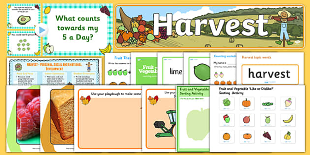 Early Years Harvest Teaching Pack - early years, harvest, pack