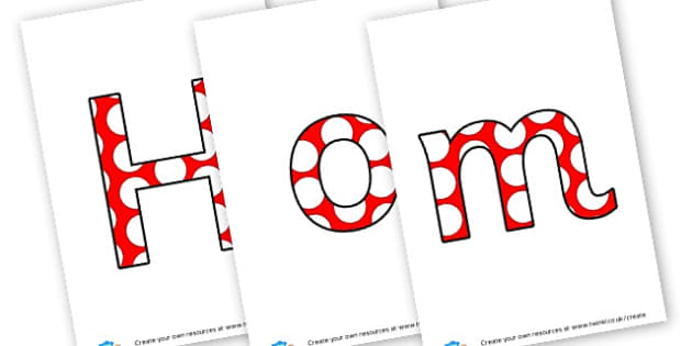 Home Learning - display lettering - Parents Primary Resources, Primary Resources, Home Education, Home