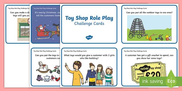 Challenge Cards Toy Shop - challenge, cards, toy shop, toys