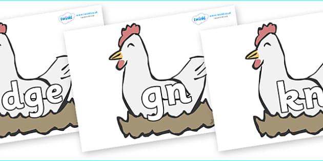 Silent Letters on Hens - Silent Letters, silent letter, letter blend, consonant, consonants, digraph, trigraph, A-Z letters, literacy, alphabet, letters, alternative sounds