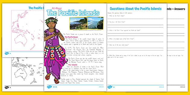 Pacific Islands Differentiated Comprehension Activity - nz, new zealand, pacific islands, comprehension