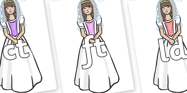 Final Letter Blends on Princesses - Final Letters, final letter, letter blend, letter blends, consonant, consonants, digraph, trigraph, literacy, alphabet, letters, foundation stage literacy