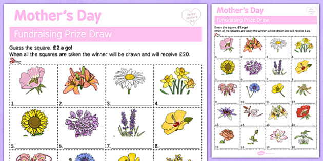 Elderly Care Mother's Day Fundraising Sheet - Elderly, Reminiscence, Care Homes, Mother's Day, activity, memory