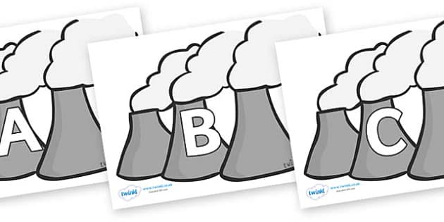 A-Z Alphabet on Power Plant - A-Z, A4, display, Alphabet frieze, Display letters, Letter posters, A-Z letters, Alphabet flashcards