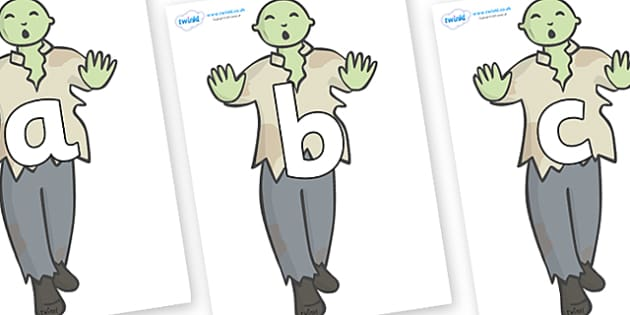 Phoneme Set on Zombies - Phoneme set, phonemes, phoneme, Letters and Sounds, DfES, display, Phase 1, Phase 2, Phase 3, Phase 5, Foundation, Literacy