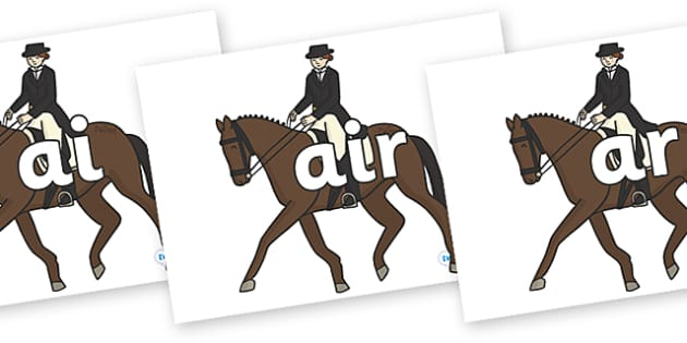 Phase 3 Phonemes on Equestrian (Horses) - Phonemes, phoneme, Phase 3, Phase three, Foundation, Literacy, Letters and Sounds, DfES, display