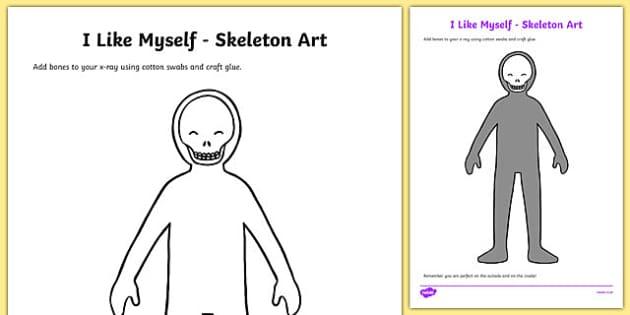 I Like Myself Skeleton Art - usa, america, i like myself, all about me, skeleton art