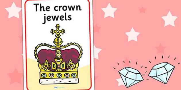 Crown Jewels Display Poster - crown, jewels, display, poster, sign, Queen, Crown Jewels, history, royal