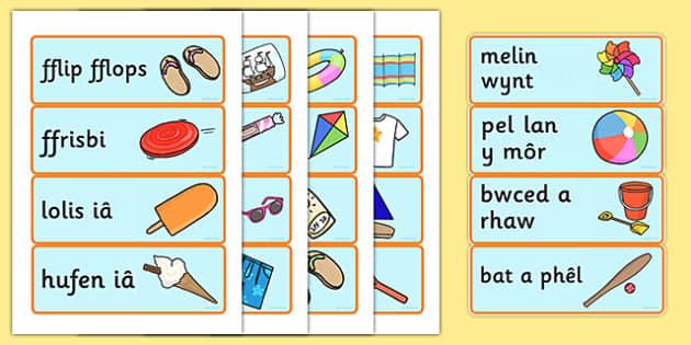 Souvenir Role Play Shop Labels Welsh - souvenir, welsh, role-play