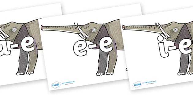 Modifying E Letters on Elephant to Support Teaching on The Bad Tempered Ladybird - Modifying E, letters, modify, Phase 5, Phase five, alternative spellings for phonemes, DfES letters and Sounds