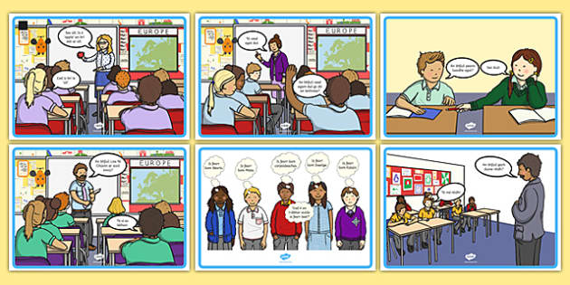Gaeilge An Scoil Conversation Posters - talking, speaking and listening, school, teach, learning