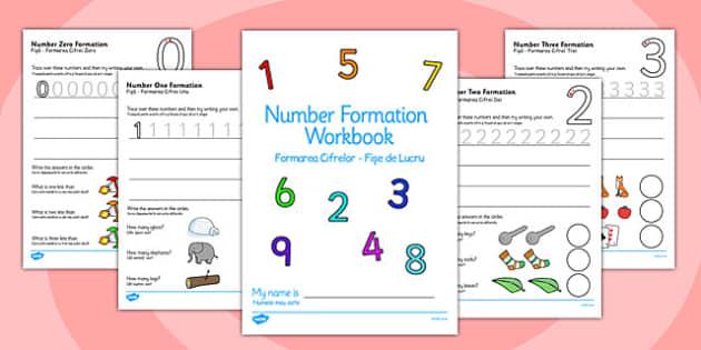 Number Formation Workbook Romanian Translation - romanian, number