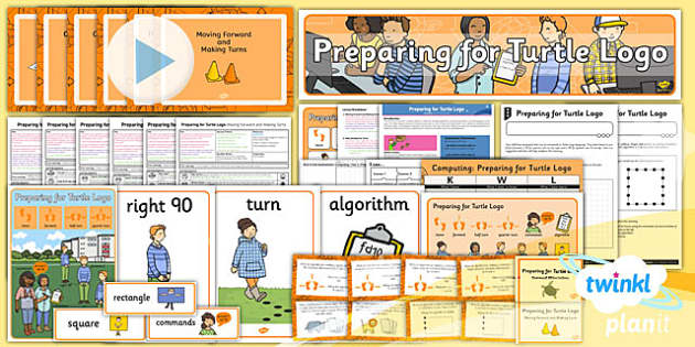 PlanIt - Computing Year 2 - Preparing For Turtle Logo Unit Pack - planit, computing, year 2