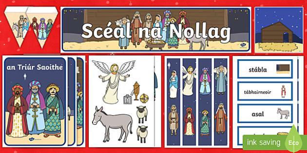 Scéal na Nollag Display Pack Gaeilge