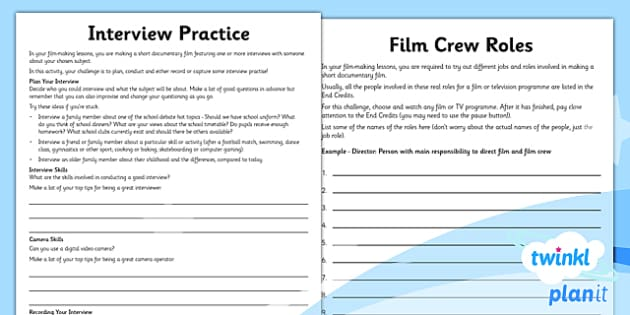 PlanIt - Computing Year 6 - Film-Making Unit Home Learning Tasks - movies, documentary, filming, video, camera, movie maker, digital devices