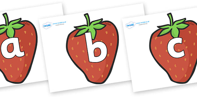 Phoneme Set on Strawberries - Phoneme set, phonemes, phoneme, Letters and Sounds, DfES, display, Phase 1, Phase 2, Phase 3, Phase 5, Foundation, Literacy
