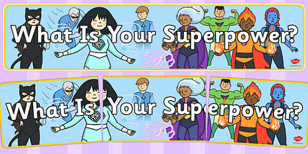 What Is Your Superpower? Display Banner - superpower, superhero, display banner