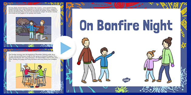 On Bonfire Night Story PowerPoint - bonfire night, story, powerpoint