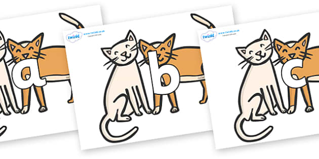 Phoneme Set on Cats - Phoneme set, phonemes, phoneme, Letters and Sounds, DfES, display, Phase 1, Phase 2, Phase 3, Phase 5, Foundation, Literacy