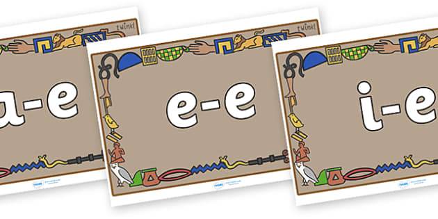 Modifying E Letters on Egyptian Bricks - Modifying E, letters, modify, Phase 5, Phase five, alternative spellings for phonemes, DfES letters and Sounds