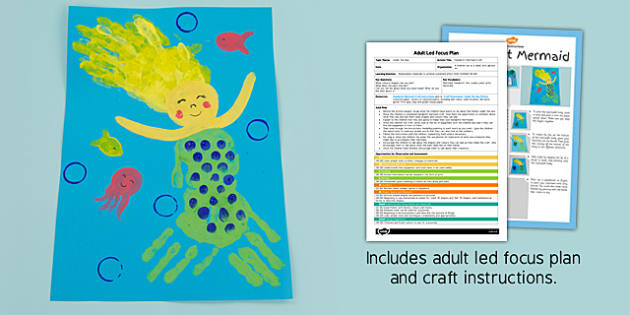 Handprint Mermaid Craft Adult Led Focus Plan And Craft Pack
