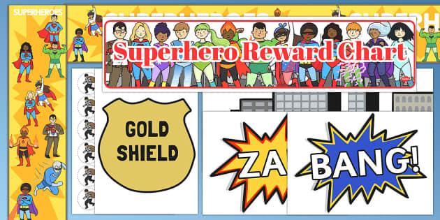 Superhero Reward Display Pack - superhero, reward, display pack