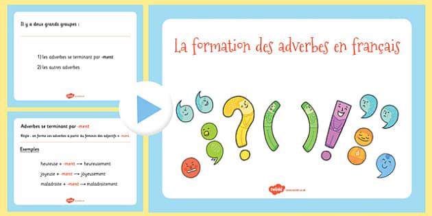 La formation des adverbes en français - french, adverb, formation, adverb formation, language