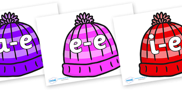 Modifying E Letters on Woolly Hats - Modifying E, letters, modify, Phase 5, Phase five, alternative spellings for phonemes, DfES letters and Sounds