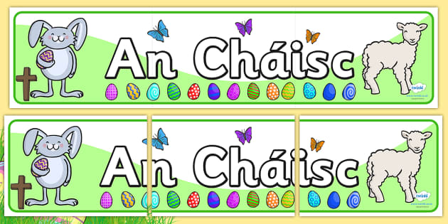 Easter Display Banner Irish - easter, easter display, religion , Gaeilge