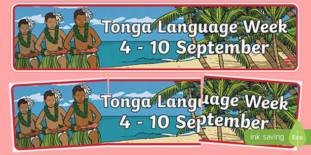 Tonga Language Week Display Banner