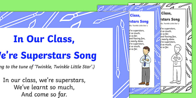 In Our Class, We're Superstars Song