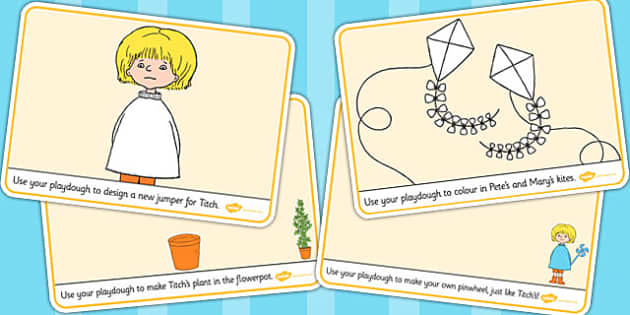 Playdough Mats to Support Teaching on Titch - fine motor skills, stories, story books